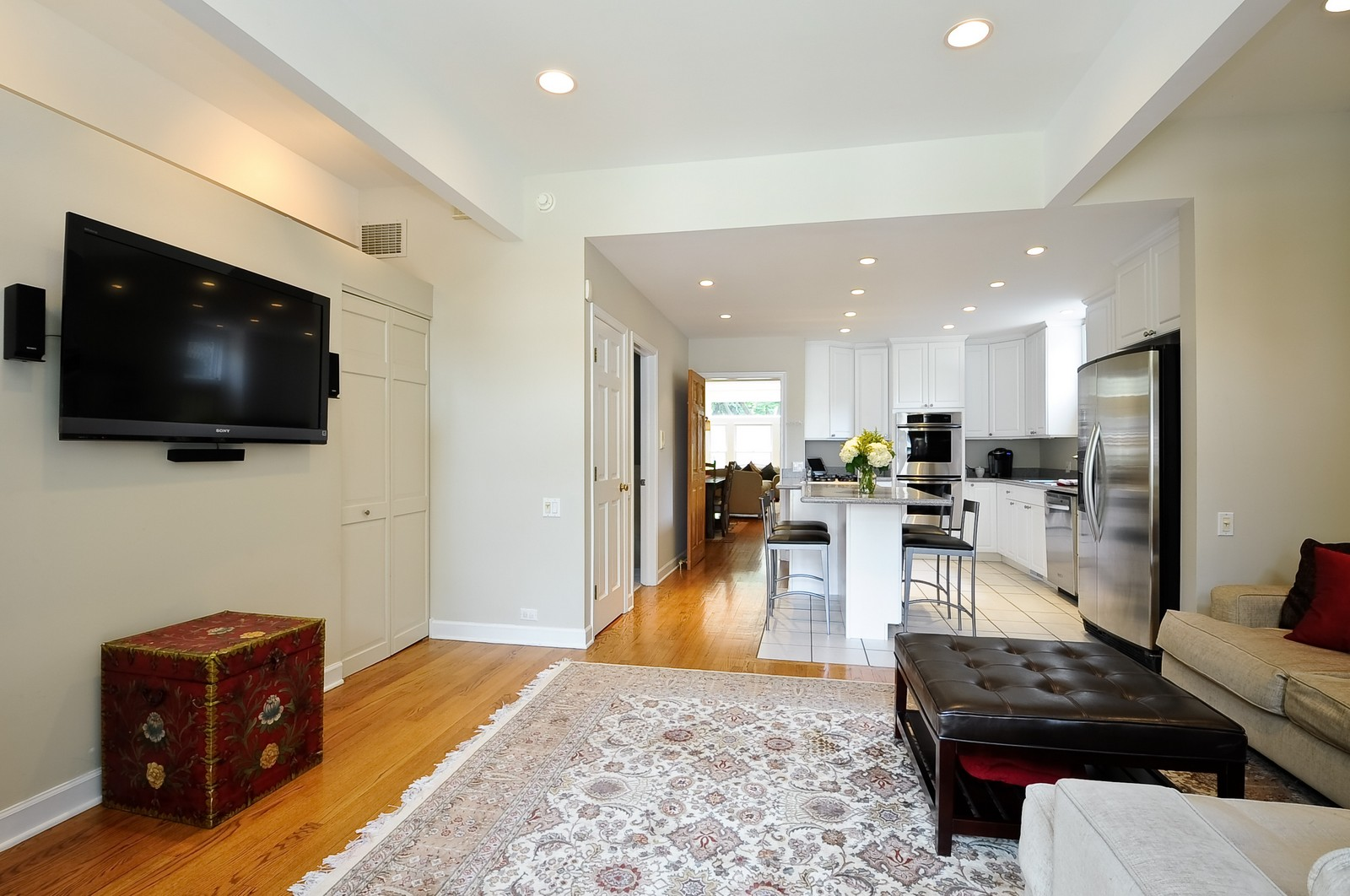 Real Estate Photography - 1144 W. Altgeld, Chicago, IL, 60614 - Family Room / Kitchen