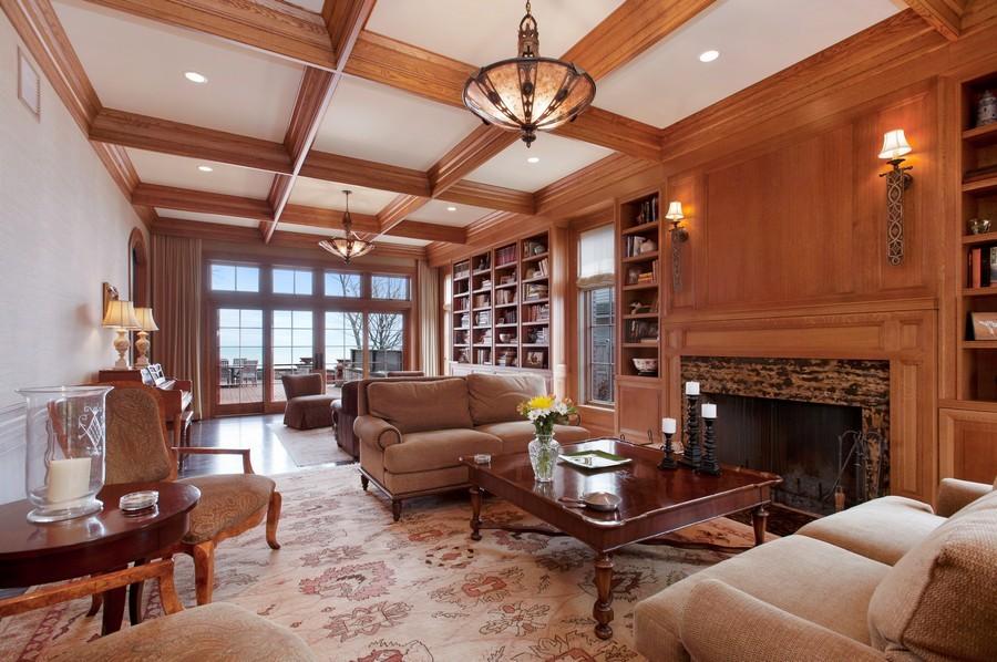 Real Estate Photography - 691 Sheridan Road, Winnetka, IL, 60093 - Living Room