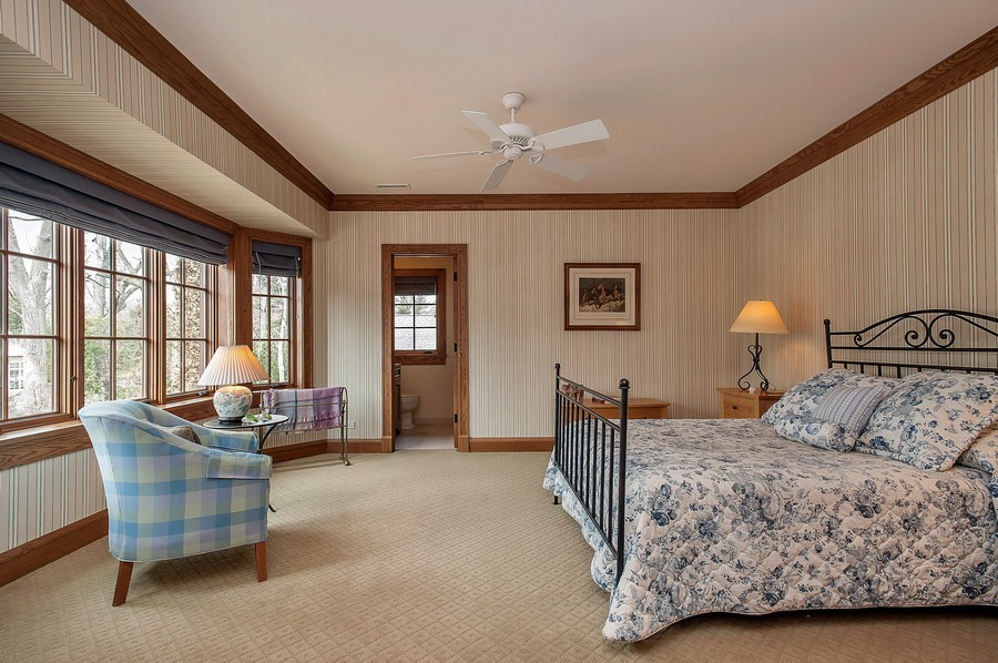 Real Estate Photography - 691 Sheridan Road, Winnetka, IL, 60093 - 4th Bedroom