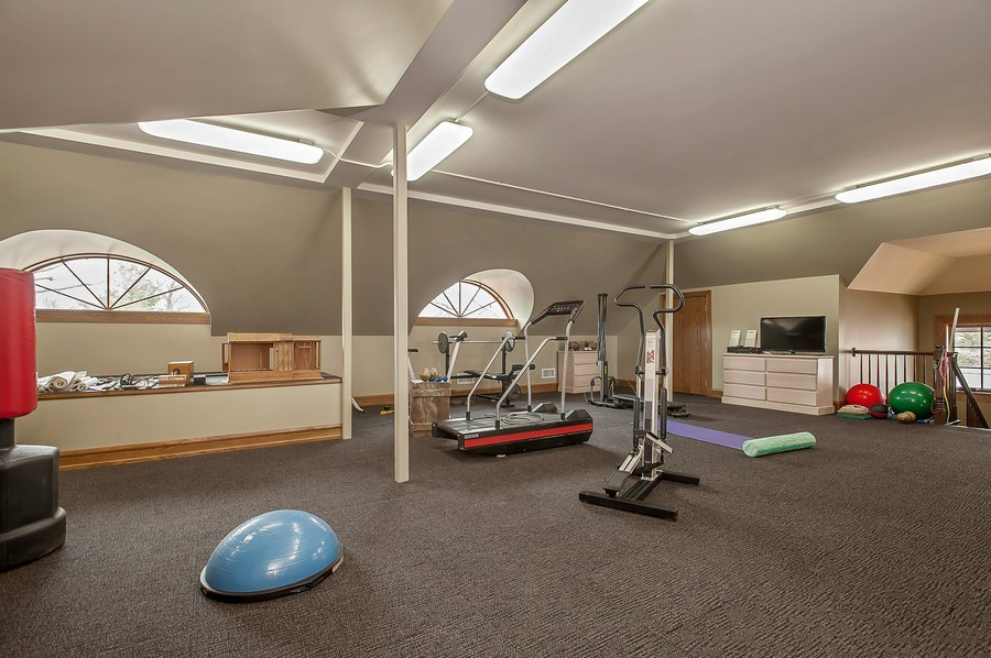 Real Estate Photography - 691 Sheridan Road, Winnetka, IL, 60093 - Exercise Room
