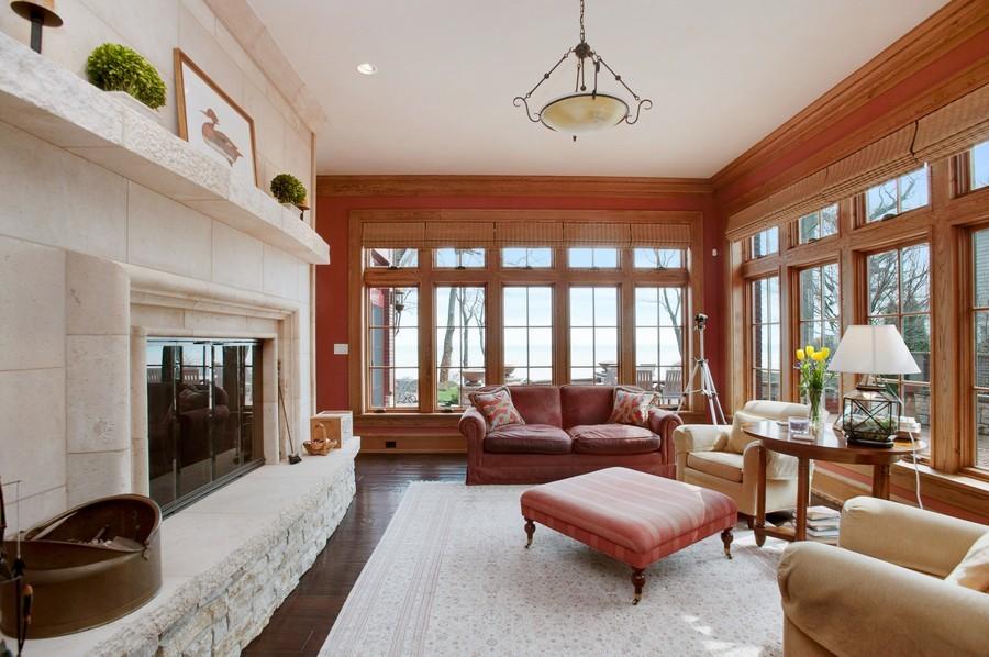 Real Estate Photography - 691 Sheridan Road, Winnetka, IL, 60093 - Family Room