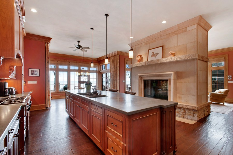 Real Estate Photography - 691 Sheridan Road, Winnetka, IL, 60093 - Kitchen