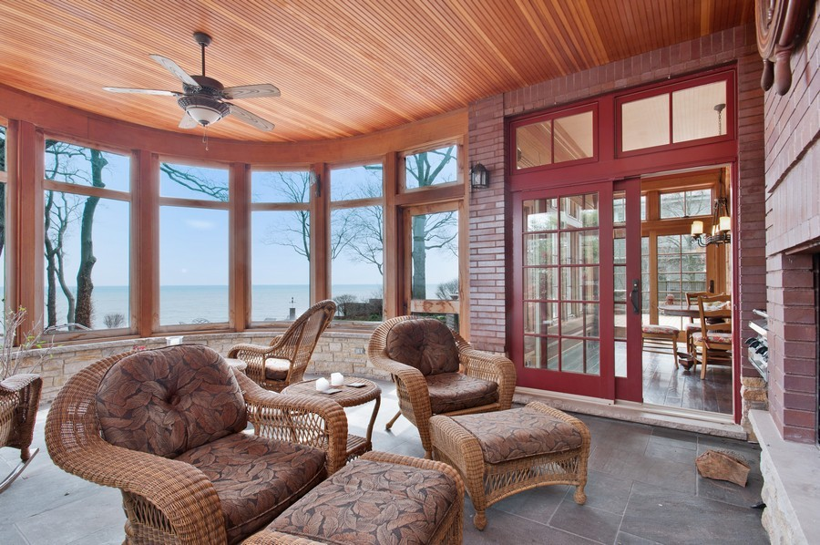 Real Estate Photography - 691 Sheridan Road, Winnetka, IL, 60093 - Sun Room