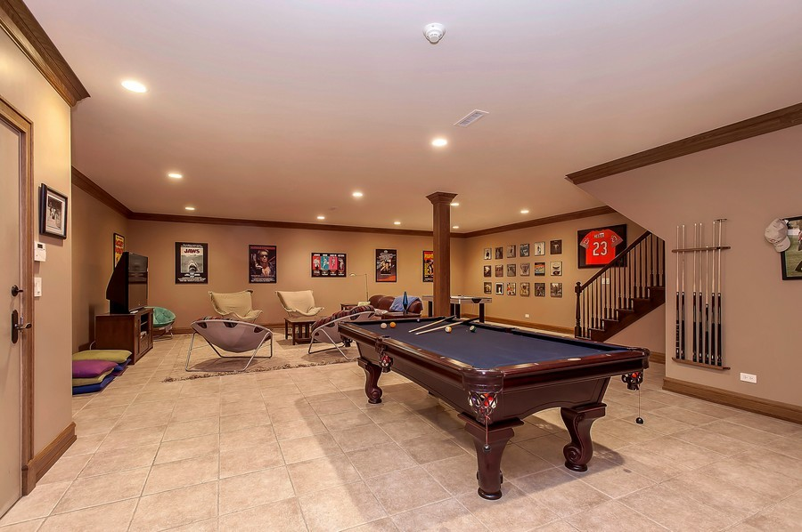 Real Estate Photography - 691 Sheridan Road, Winnetka, IL, 60093 - Play / Recreational Room