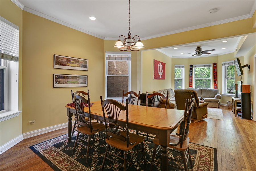 Real Estate Photography - 1310 W. Cornelia, Chicago, IL, 60657 - 2nd flr Dining/Living