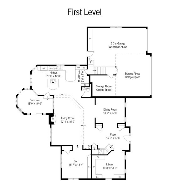 Real Estate Photography - 1040 West Bombay Way, Palatine, IL, 60067 - Floor Plan