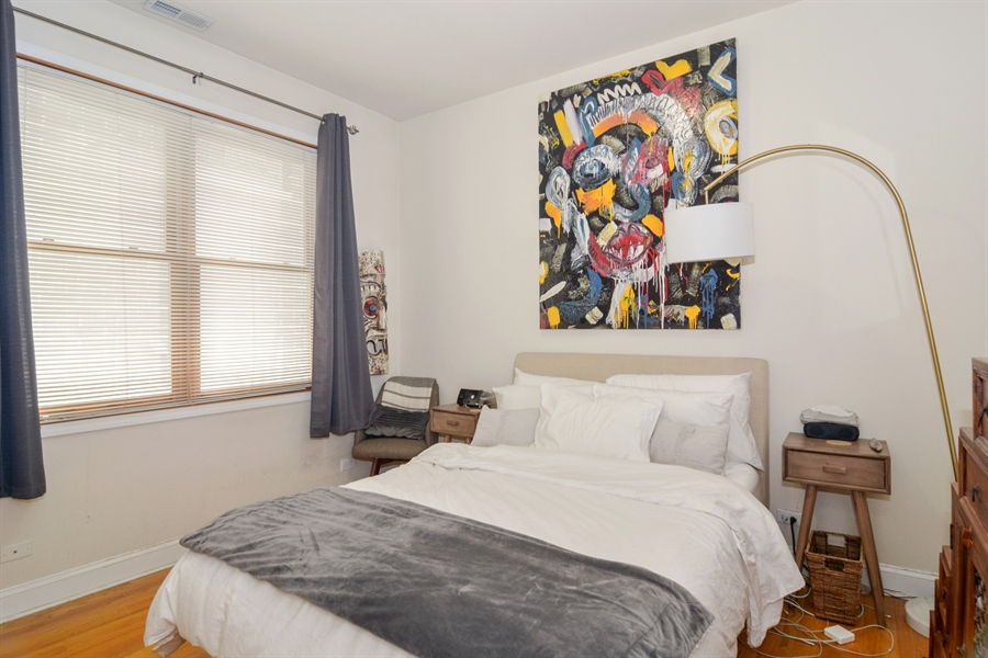 Real Estate Photography - 1942 N Francisco, Unit 2S, Chicago, IL, 60647 - 2nd Bedroom