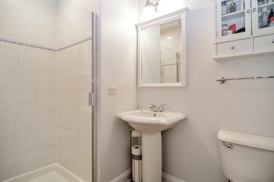 Real Estate Photography - 1942 N Francisco, Unit 2S, Chicago, IL, 60647 - Bathroom