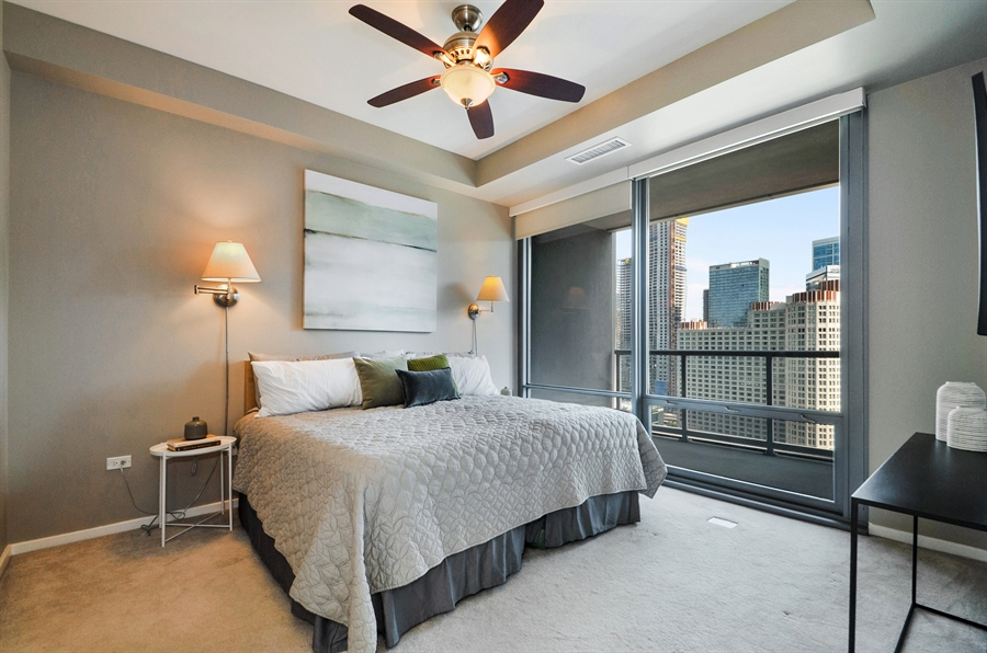 Real Estate Photography - 240 E Illinois St, Unit 2107, Chicago, IL, 60611 - Master Bedroom