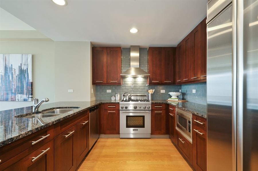 Real Estate Photography - 240 E Illinois St, Unit 2107, Chicago, IL, 60611 - Kitchen