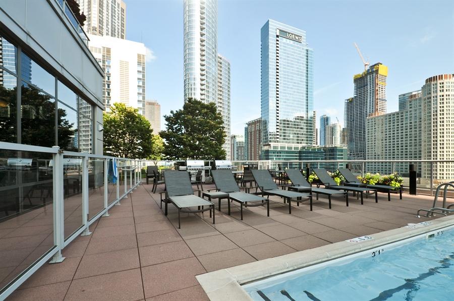 Real Estate Photography - 240 E Illinois St, Unit 2107, Chicago, IL, 60611 - Pool