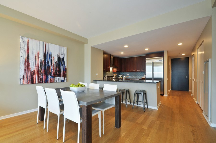 Real Estate Photography - 240 E Illinois St, Unit 2107, Chicago, IL, 60611 - Kitchen / Dining Room
