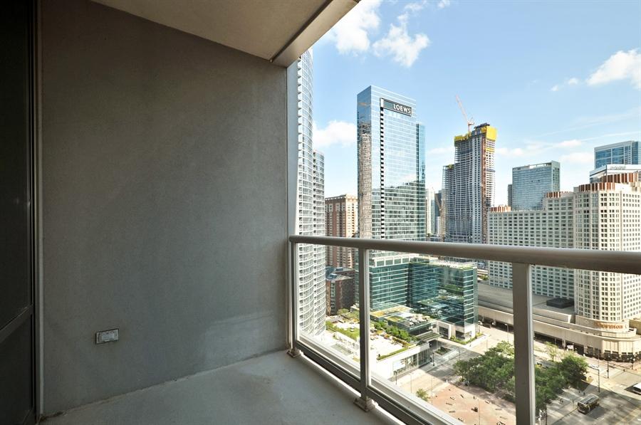 Real Estate Photography - 240 E Illinois St, Unit 2107, Chicago, IL, 60611 - Balcony
