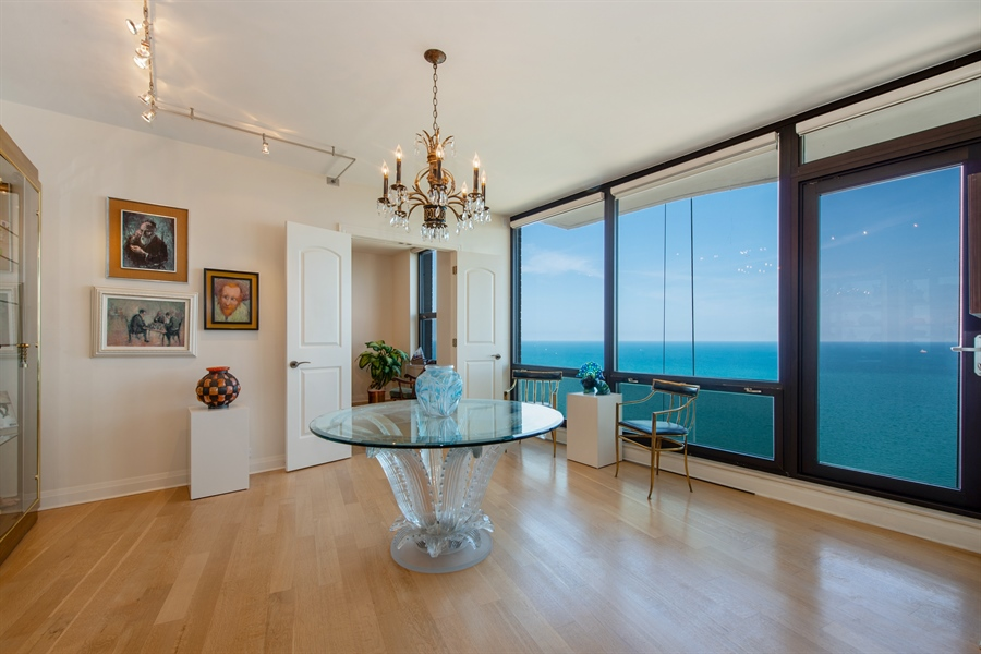 Real Estate Photography - 1040 N. Lake Shore Drive, 36BC, Chicago, IL, 60611 - Sitting Room