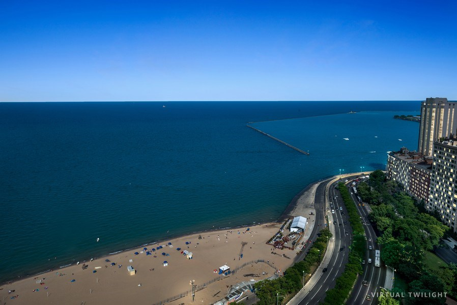 Real Estate Photography - 1040 N. Lake Shore Drive, 36BC, Chicago, IL, 60611 - View