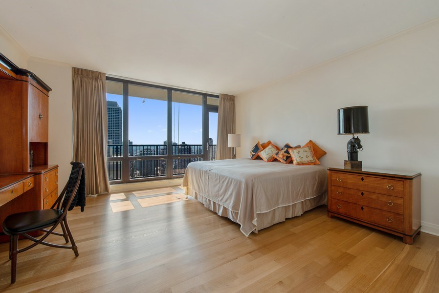 Real Estate Photography - 1040 N. Lake Shore Drive, 36BC, Chicago, IL, 60611 - 2nd Bedroom