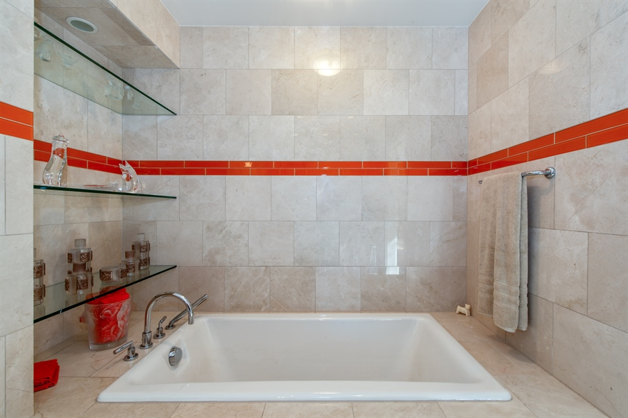 Real Estate Photography - 1040 N. Lake Shore Drive, 36BC, Chicago, IL, 60611 - Master Bathroom