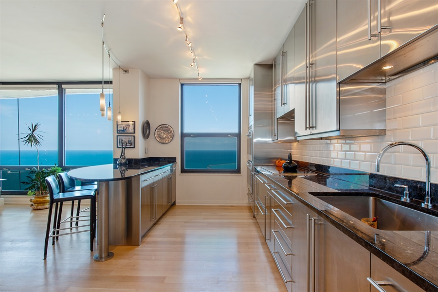 Real Estate Photography - 1040 N. Lake Shore Drive, 36BC, Chicago, IL, 60611 - Kitchen