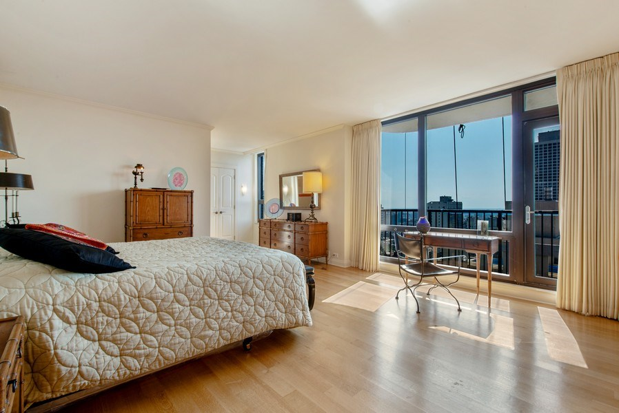 Real Estate Photography - 1040 N. Lake Shore Drive, 36BC, Chicago, IL, 60611 - Master Bedroom