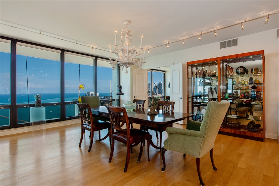 Real Estate Photography - 1040 N. Lake Shore Drive, 36BC, Chicago, IL, 60611 - Dining Room