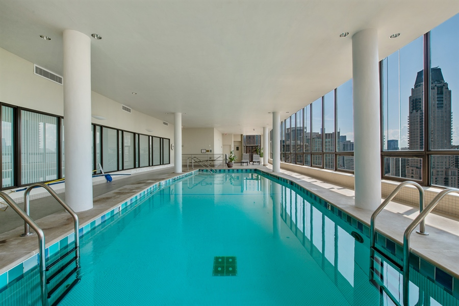 Real Estate Photography - 1040 N. Lake Shore Drive, 36BC, Chicago, IL, 60611 - Pool