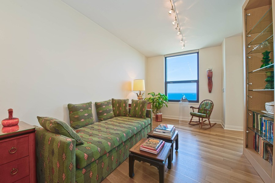 Real Estate Photography - 1040 N. Lake Shore Drive, 36BC, Chicago, IL, 60611 - Den