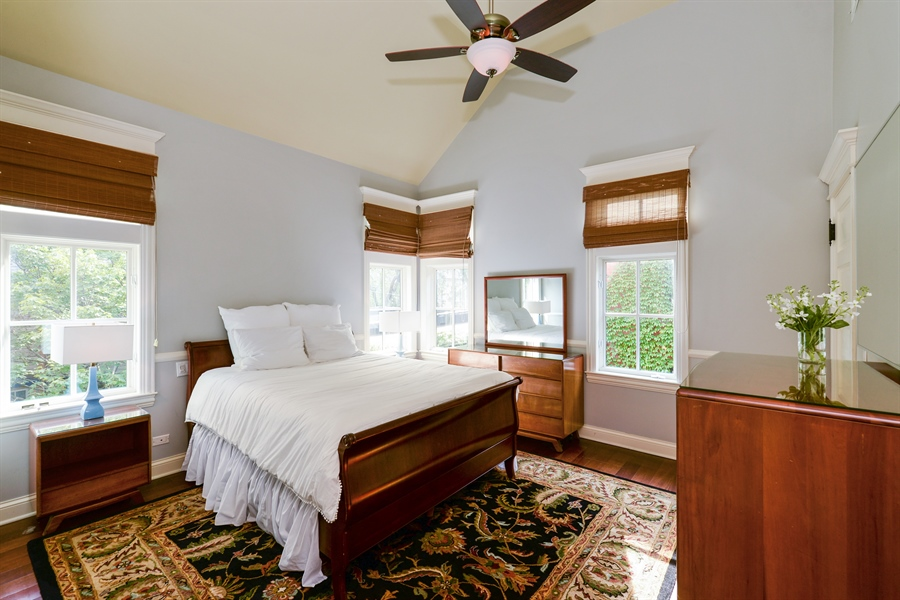 Real Estate Photography - 3440 N Janssen Ave, Chicago, IL, 60657 - Ensuite bedroom (1 of the 4 bedrooms on 2nd floor)