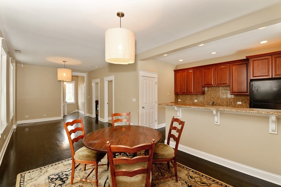 Real Estate Photography - 3440 N Janssen Ave, Chicago, IL, 60657 - Coach house 3Bed/2Bath top floor kitchen & LR