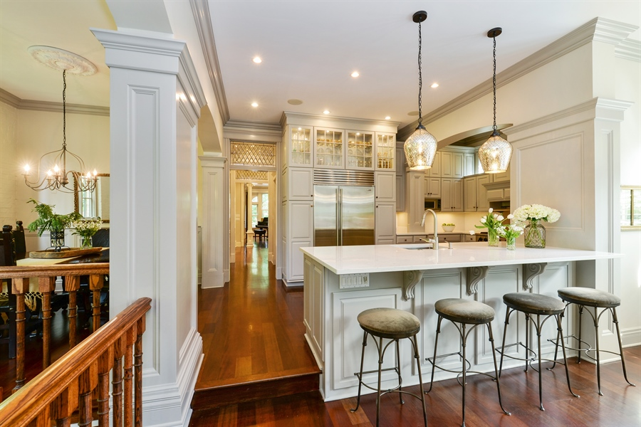 Real Estate Photography - 3440 N Janssen Ave, Chicago, IL, 60657 - kitchen with combined breakfast room