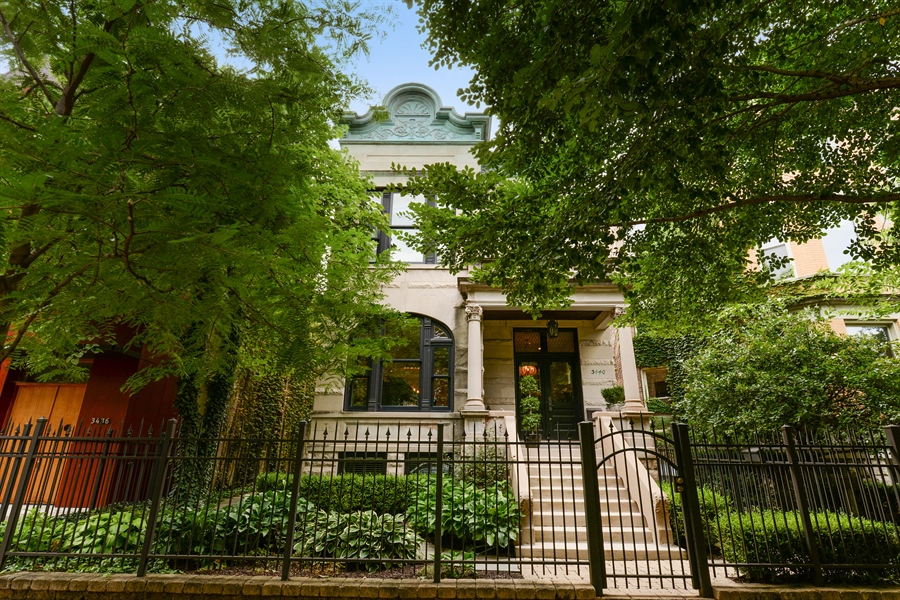 Real Estate Photography - 3440 N Janssen Ave, Chicago, IL, 60657 - 37.5' lot Greystone w/ copper patina cornice
