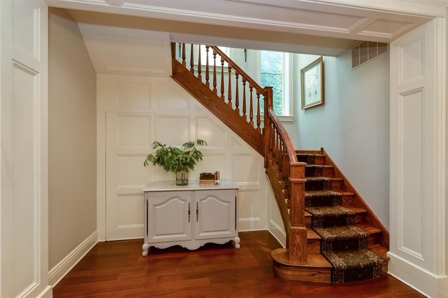 Real Estate Photography - 3440 N Janssen Ave, Chicago, IL, 60657 - Custom oak Staircase