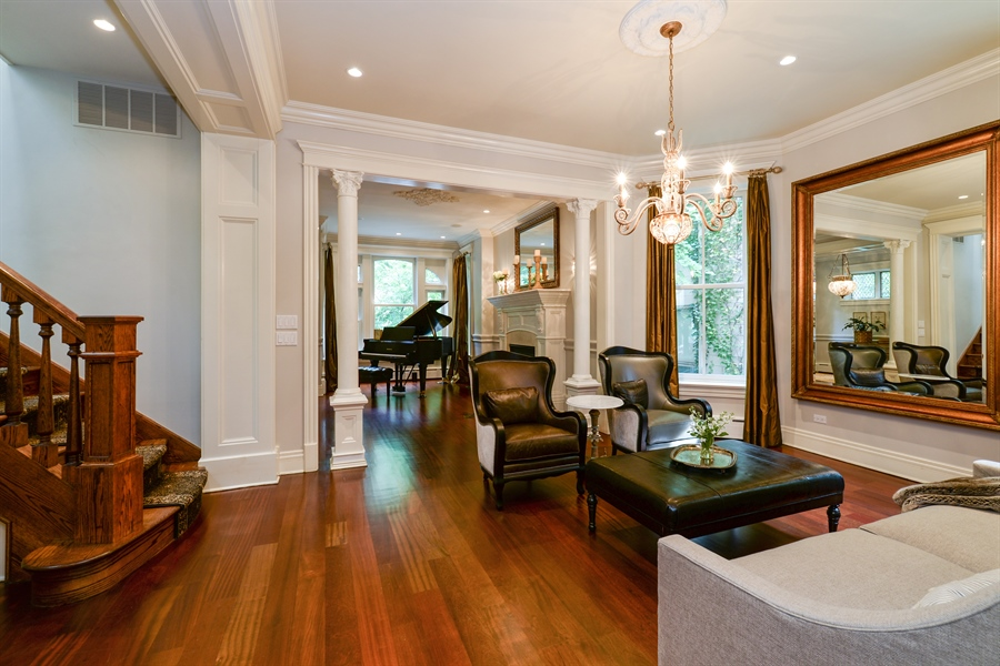Real Estate Photography - 3440 N Janssen Ave, Chicago, IL, 60657 - Dining room or Sitting room (as shown)