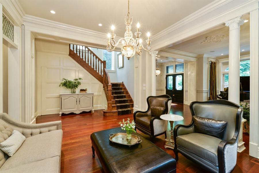 Real Estate Photography - 3440 N Janssen Ave, Chicago, IL, 60657 - Custom oak staircase w/ hidden walk in closet