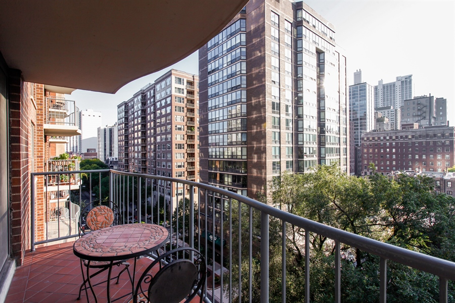 Real Estate Photography - 1250 Dearborn, 7A, Chicago, IL, 60610 - Balcony