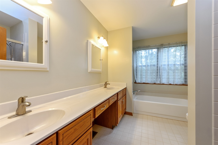 Real Estate Photography - 725 Chestnut, Bartlett, IL, 60103 - Master Bathroom