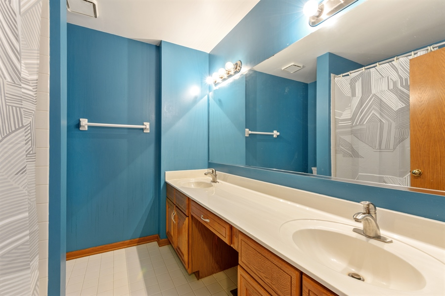 Real Estate Photography - 725 Chestnut, Bartlett, IL, 60103 - 2nd Bathroom