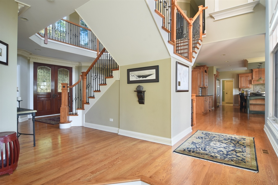 Real Estate Photography - 14N302 Highland Ave, Elgin, IL, 60124 - Staircase to Upper Level