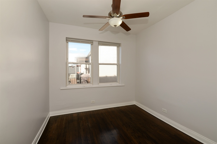 Real Estate Photography - 3555 W Lyndale, 3C, Chicago, IL, 60647 - 2nd Bedroom