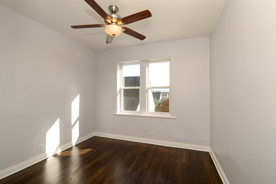 Real Estate Photography - 3555 W Lyndale, 3C, Chicago, IL, 60647 - Bedroom