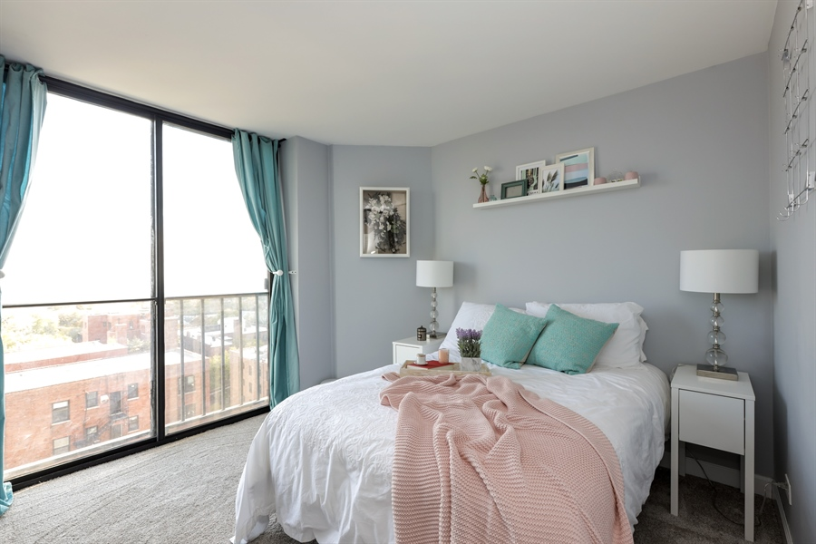 Real Estate Photography - 345 W Fullerton, 1301, Chicago, IL, 60614 - Bedroom