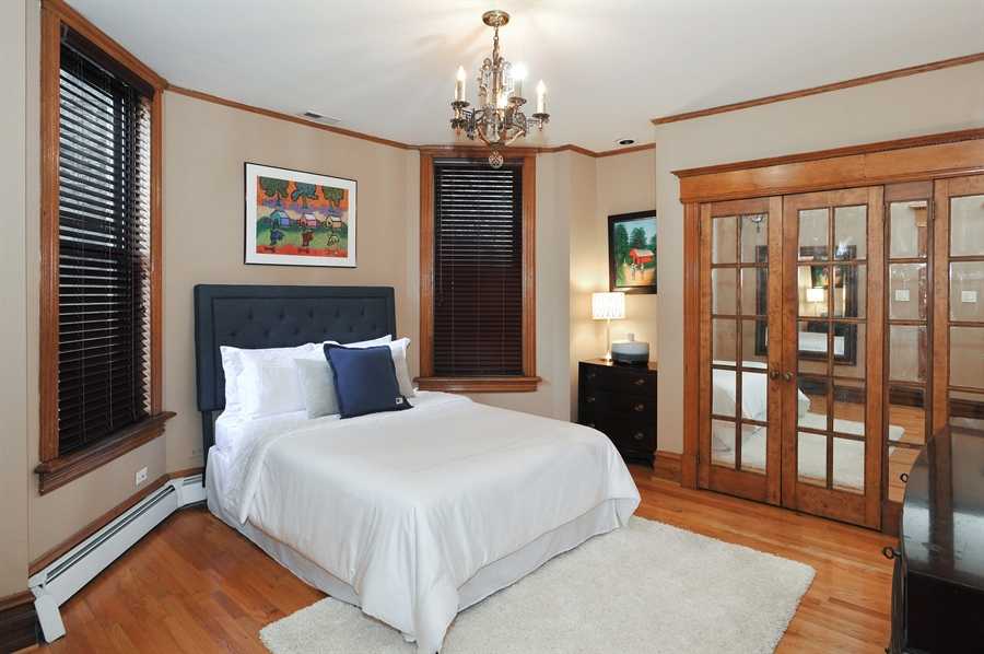 Real Estate Photography - 4113 N Kenmore, Chicago, IL, 60613 - 2nd Bedroom
