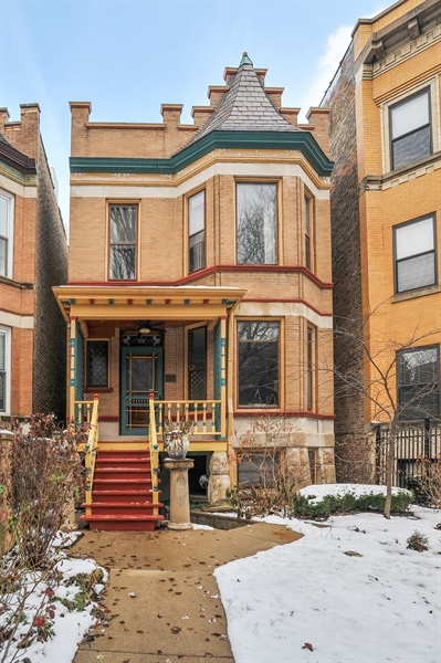 Real Estate Photography - 4113 N Kenmore, Chicago, IL, 60613 - Front View