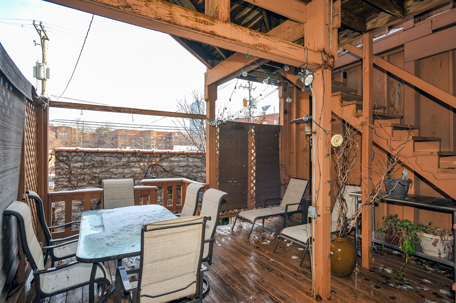 Real Estate Photography - 4113 N Kenmore, Chicago, IL, 60613 - Deck