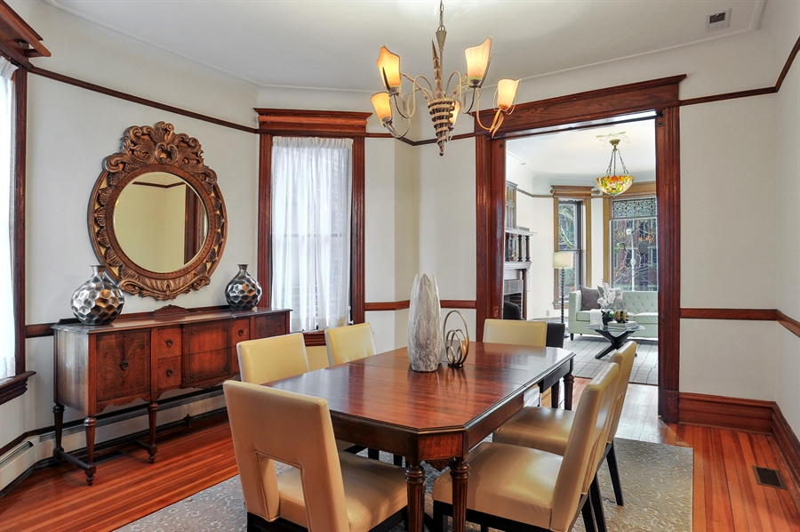 Real Estate Photography - 4113 N Kenmore, Chicago, IL, 60613 - Living Room / Dining Room