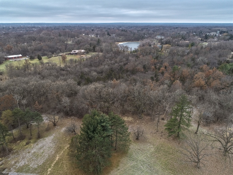 Real Estate Photography - 21700 Hanover Hills, Barrington, IL, 60010 - Aerial View
