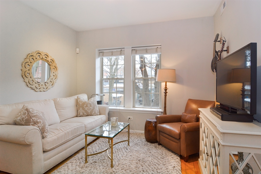 Real Estate Photography - 2215 N Bissell, 2A, Chicago, IL, 60614 - Living Room