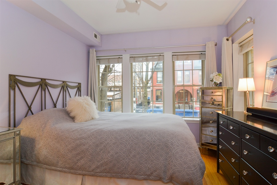 Real Estate Photography - 2215 N Bissell, 2A, Chicago, IL, 60614 - Bedroom