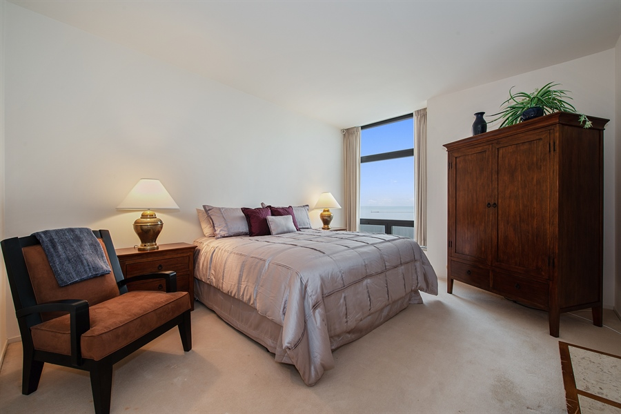 Real Estate Photography - 680 N Lake Shore Dr, 705, Chicago, IL, 60611 - 2nd Bedroom