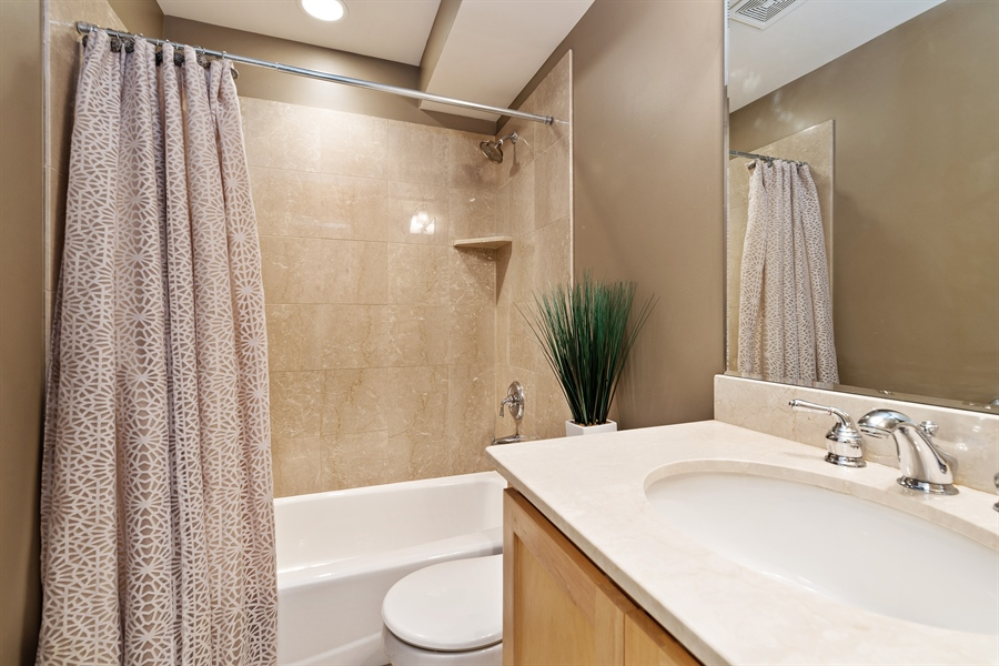 Real Estate Photography - 821 W Aldine, 1, Chicago, IL, 60657 - 2nd Bathroom