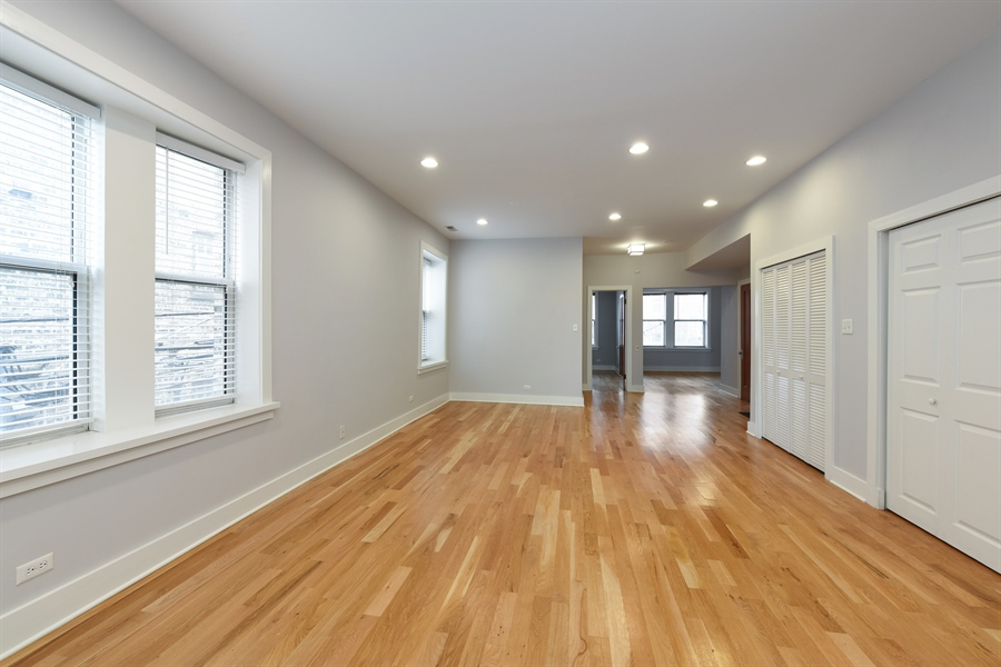 Real Estate Photography - 3045 W Sunnyside, 2W, Chicago, IL, 60625 - Living Room